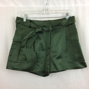 J. Crew Collection belted shorts in Italian satin